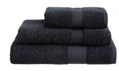Black 100% Cotton Turkish Ringspun Towel 500 Gsm